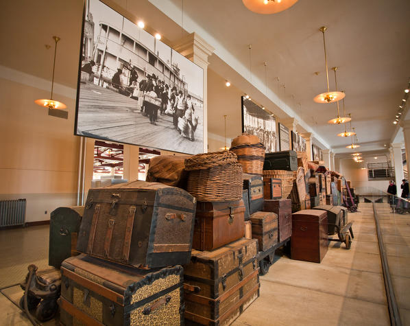 The museum on the immigrants is located in the Main Building of the former immigration station complex and tells the moving tales of the 12 million immigrants who entered America through the golden door of Ellis Island - New York, USA