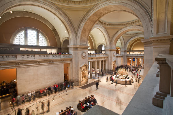 Tourists visiting the Metropolitan Museum in New York USA