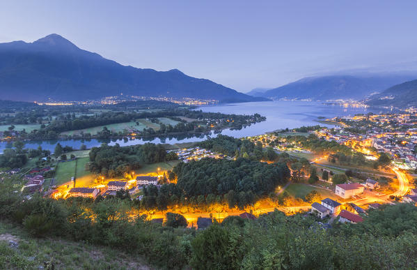 Dawn on Sorico village, lake Como, Como province, Lombardy, Italy, Europe