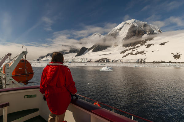 Antarctica, Antarctic Peninsula, Lemaire Channel, Antarctic Dream ship. MR.