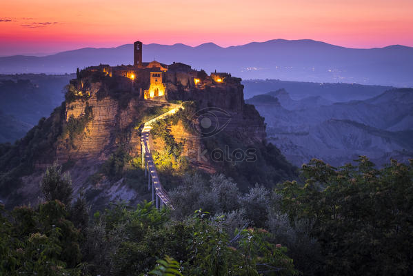 Civita di bagnoregio viterbo lazio central italy europe sunrise over civita di bagnoregio - Civita di bagno ...