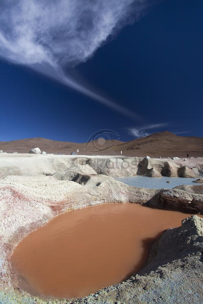 Sol de Mañana is high altitude geothermal field in the