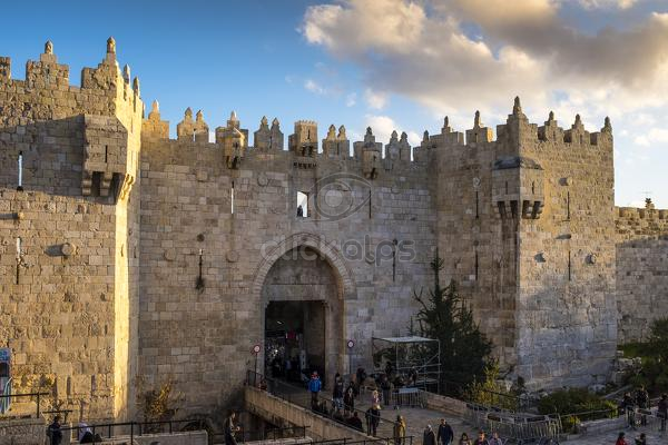 The Damascus Gate is the most crowded city exits Jerusalem